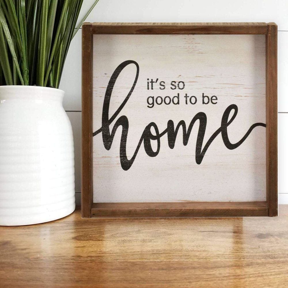 It's so Good to be Home Wood Sign Farmhouse Wall Décor