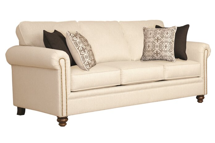 Suffield 82'' Round Arm Farmhouse Sofa with Reversible Cushions
