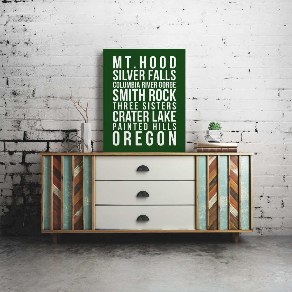 Oregon Outdoor Subway Print - Mt. Hood - Silver Falls - Columbia River Gorge - Smith Rock - Three Sisters - Crater Lake -  Painted Hills Art