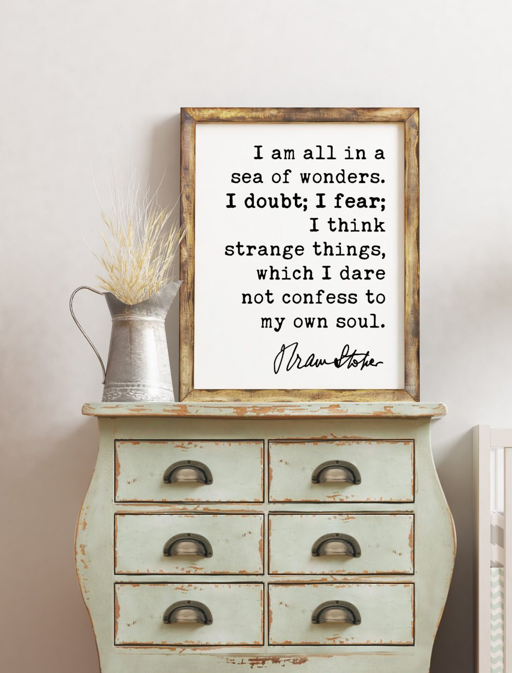 Bram Stoker Dracula Quote Art Print - I am all in a sea of wonders. I doubt; I fear;  - Life quotes, Book Quotes