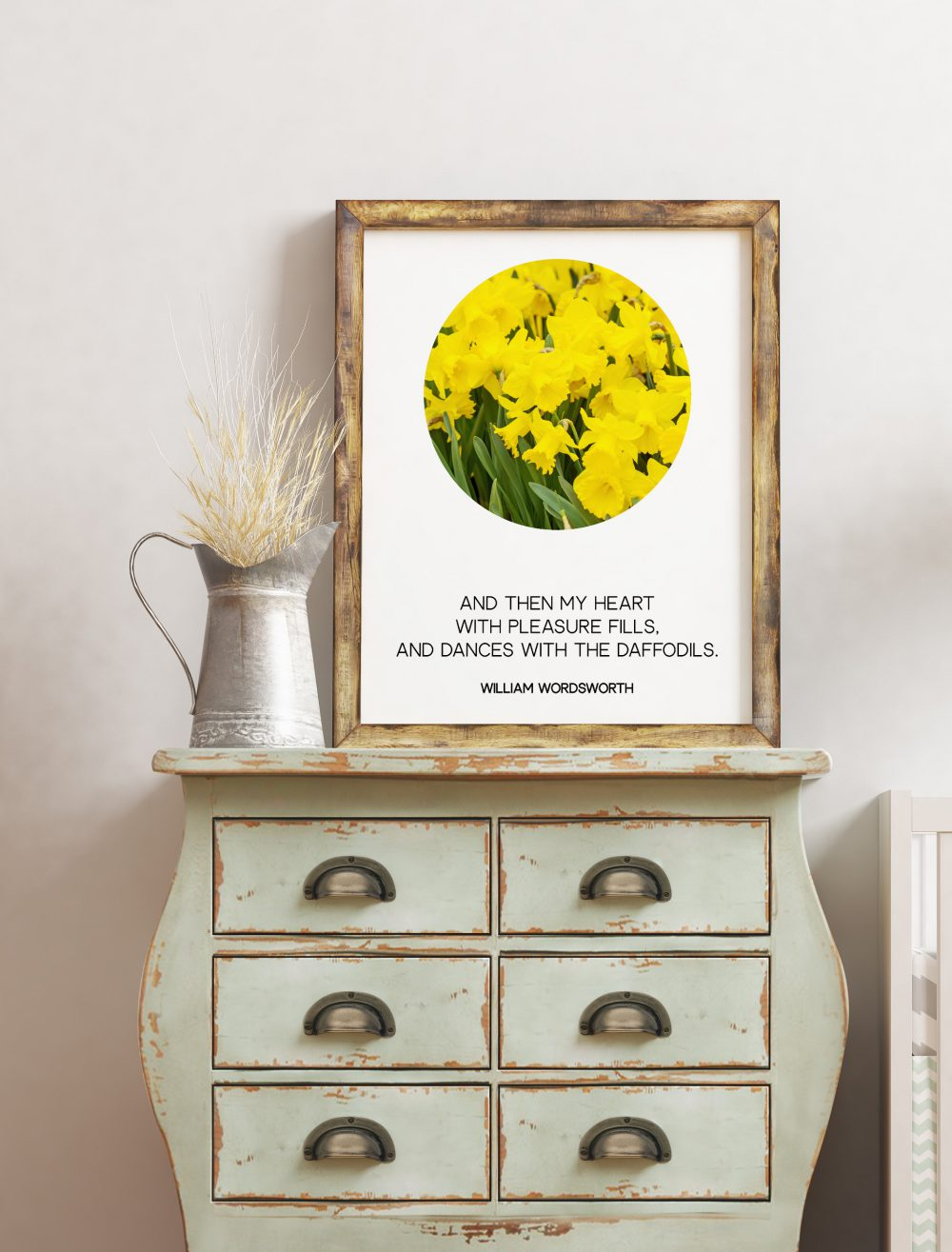 William Wordsworth Daffodils Poem - I Wandered Lonely as a Cloud Art Print | Daffodils Photo | Inspirational Poem | Poetry Wall Art Print